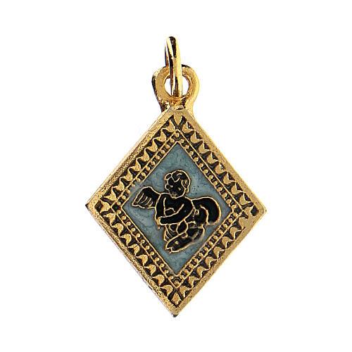 Little angel rhombus medal, enameled 1