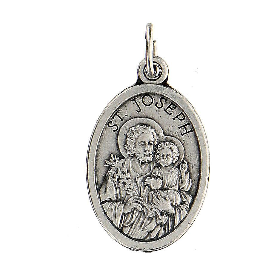 Medalla metal zamak 2 cm San José y Sagrada Familia 4