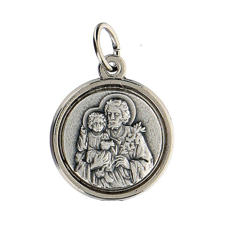 Medalla espesa San José y Sagrada Familia anillo 2 cm 4