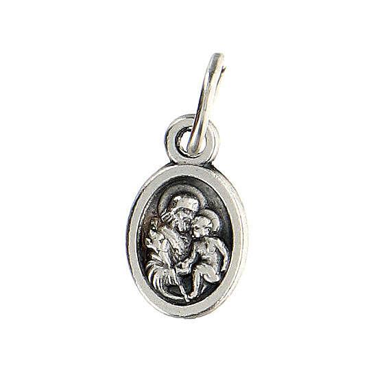 Medalla pequeña 1 cm diámetro San José y Sagrada Familia 4