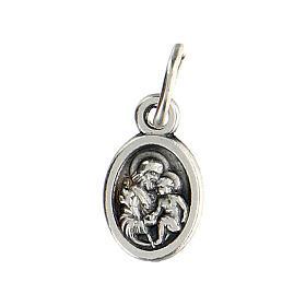 Medalla pequeña 1 cm diámetro San José y Sagrada Familia s1