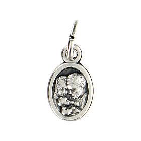 Medalla pequeña 1 cm diámetro San José y Sagrada Familia s2