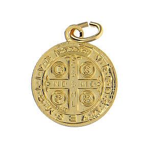 Saint Benedict medals,SET of 100, 1.8 cm, gold plated aluminium