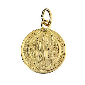 Medaglie 100 PZ CONFEZIONE San Benedetto alluminio dorato 1,8 cm