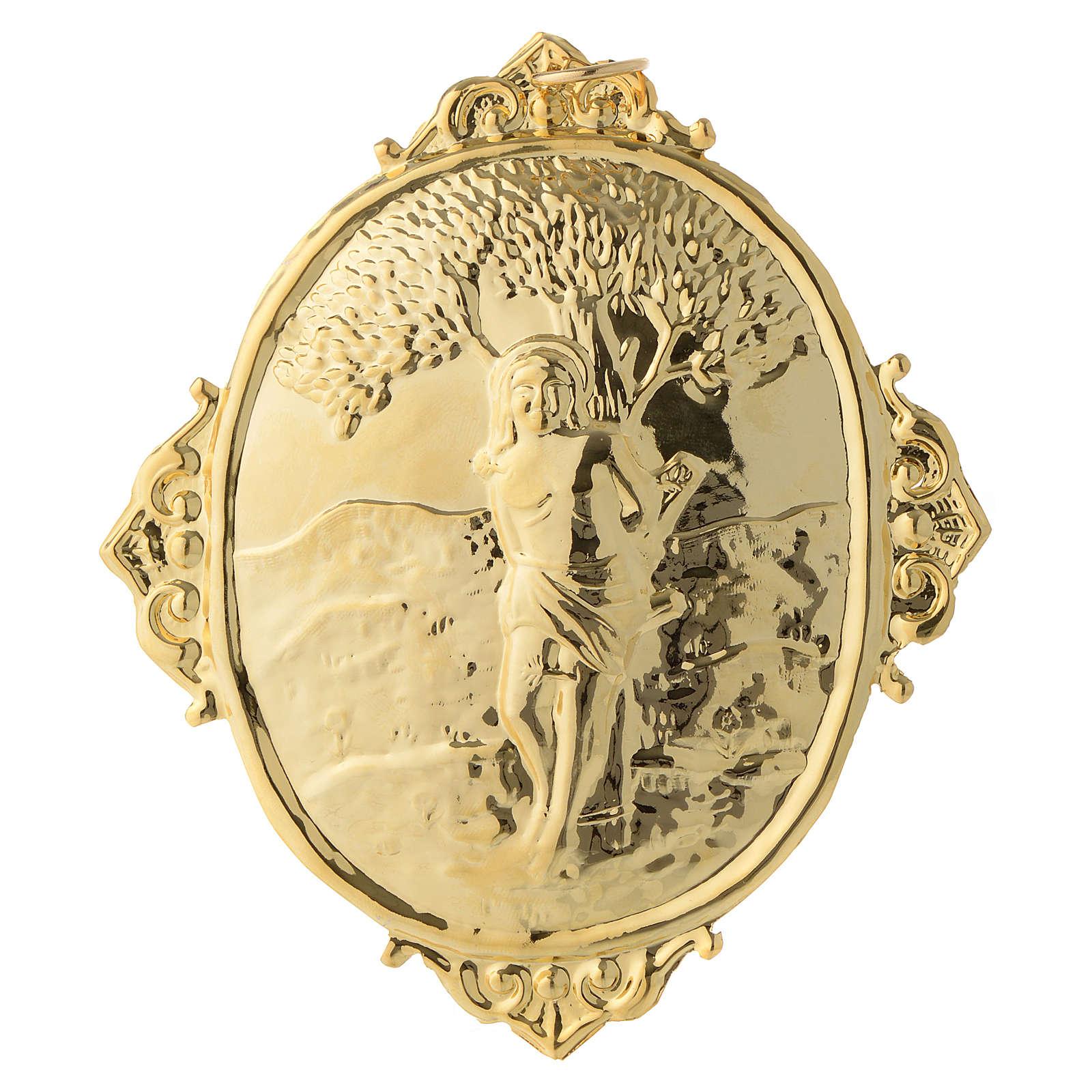 Medaglione per confraternite San Sebastiano metallo 3