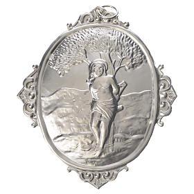 Medaglione per confraternite San Sebastiano metallo s1