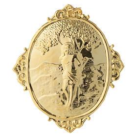 Medaglione per confraternite San Sebastiano metallo s2