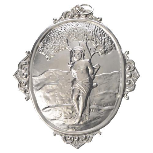 Medaglione per confraternite San Sebastiano metallo 1
