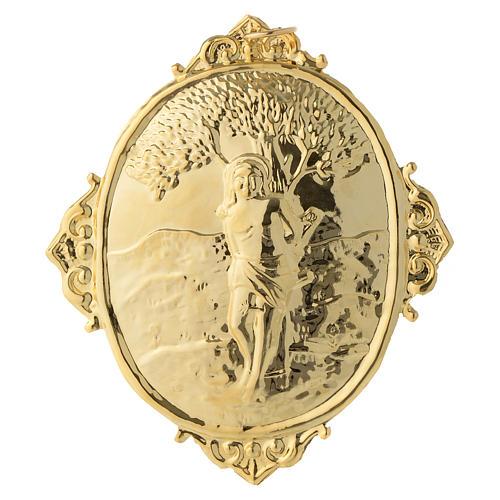 Medaglione per confraternite San Sebastiano metallo 2
