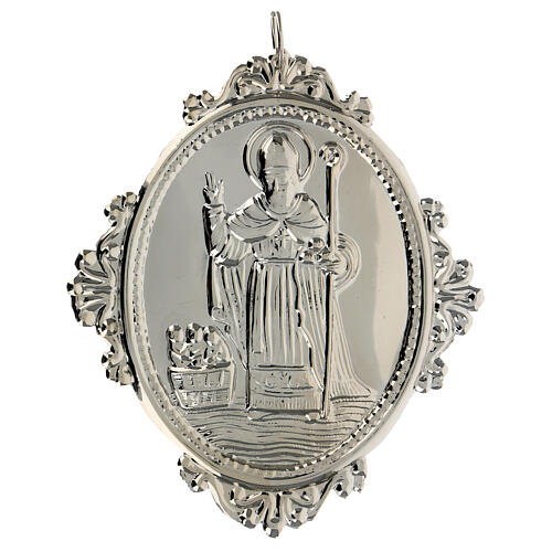Confraternity Medal in metal, Saint Nicholas 3