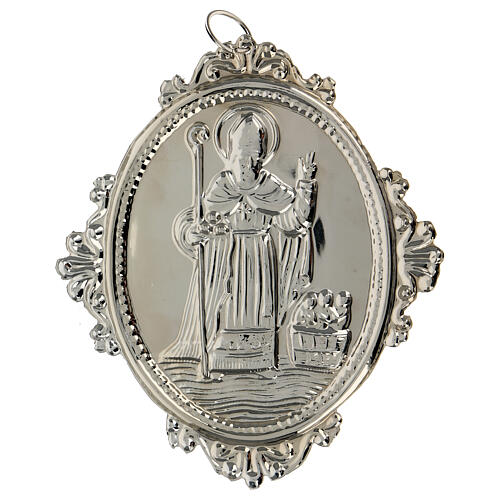 Confraternity Medal in metal, Saint Nicholas 4