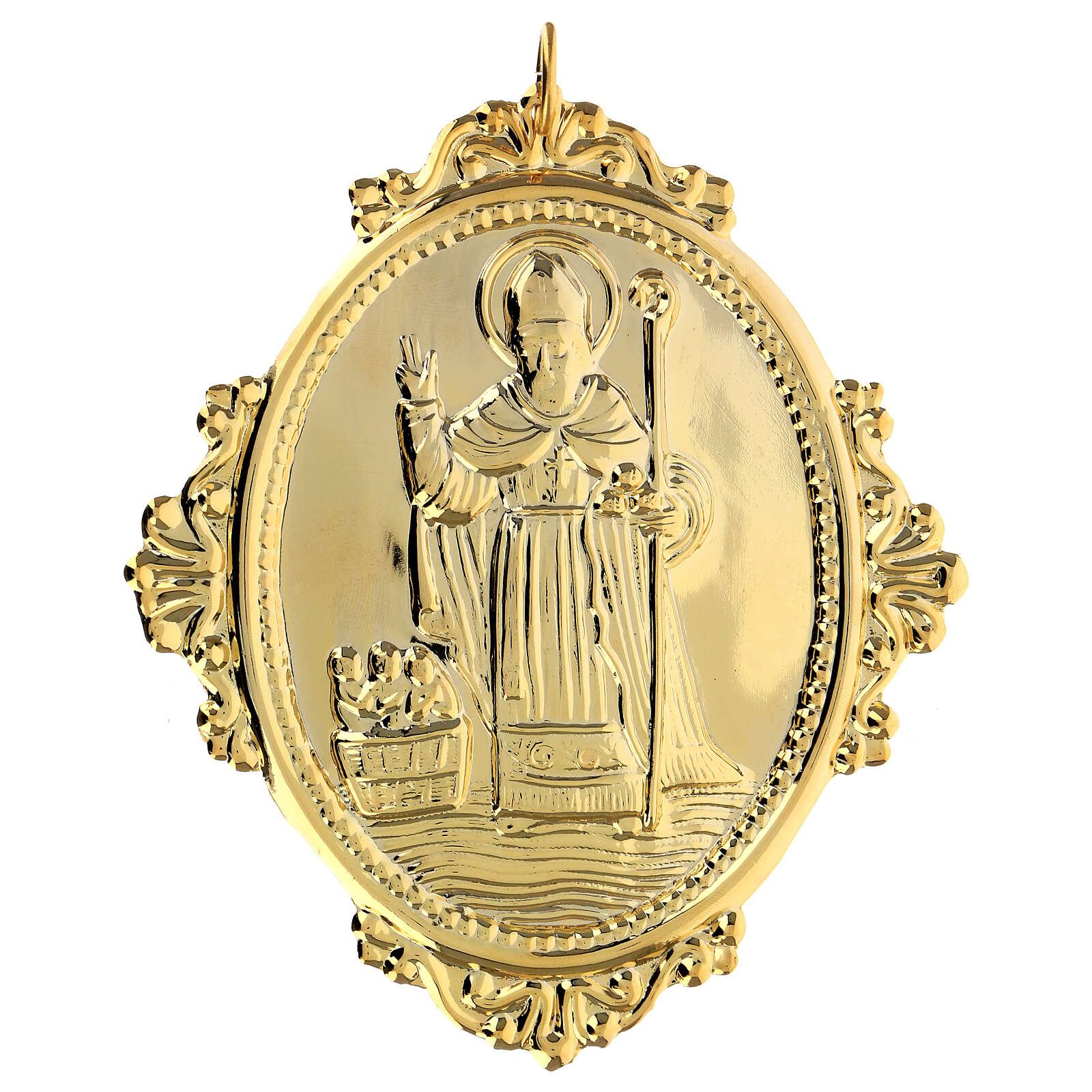 Medaglione per confraternite San Nicola metallo 3