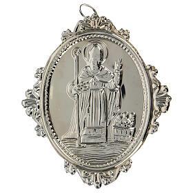 Medaglione per confraternite San Nicola metallo s4