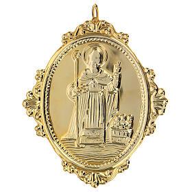 Medaglione per confraternite San Nicola metallo s2