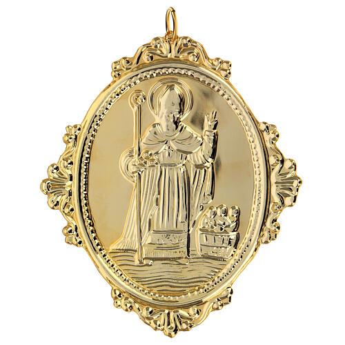 Medaglione per confraternite San Nicola metallo 2