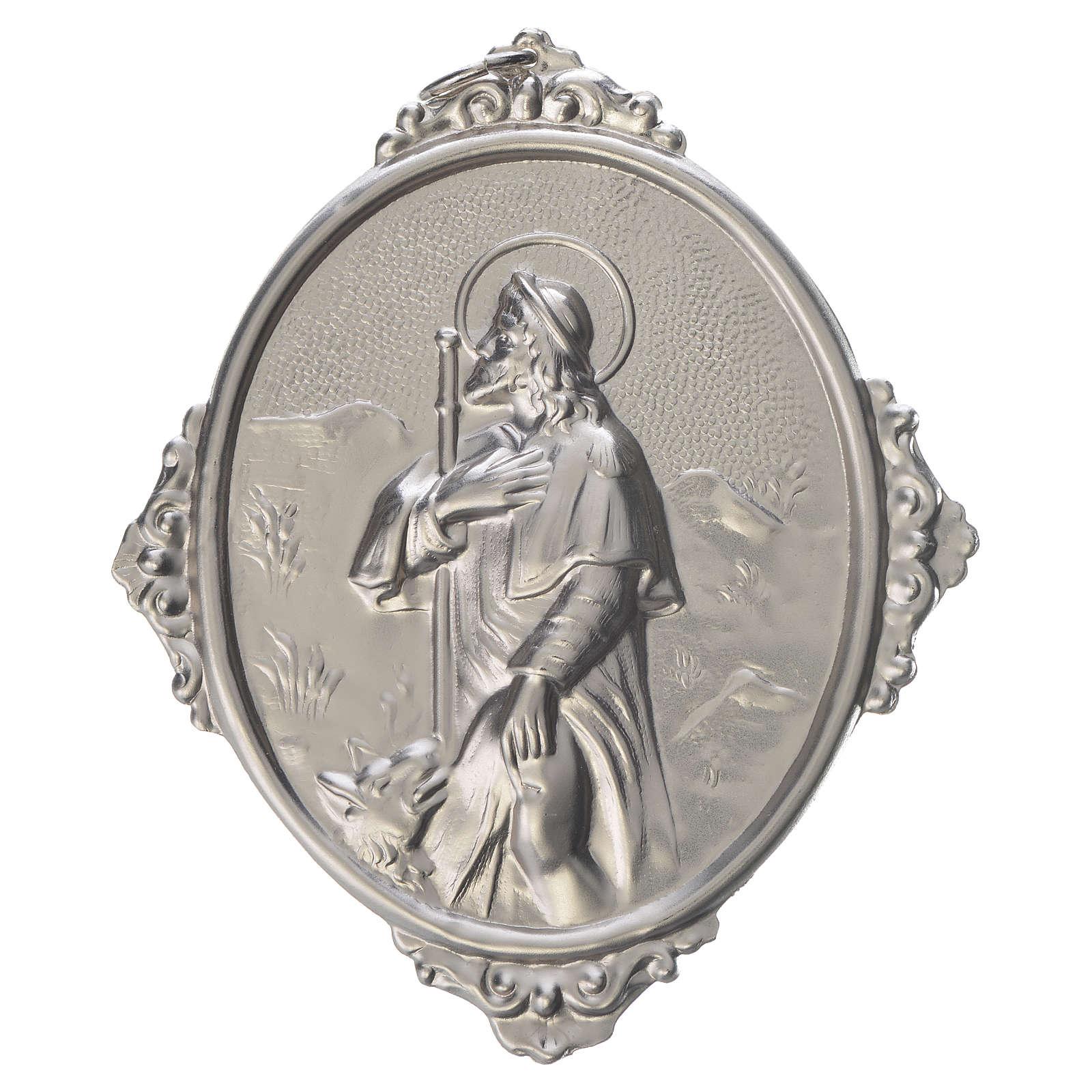 Medaglione per confraternite San Rocco metallo 3