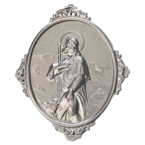 Medaglione per confraternite San Rocco metallo 1