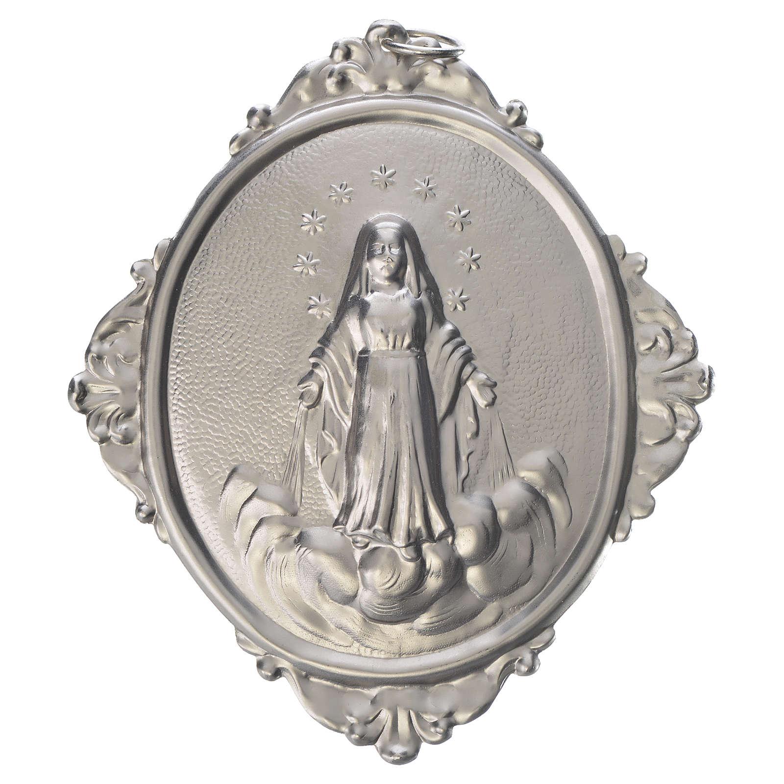 Medaglione per confraternite Madonna Assunta metallo 3