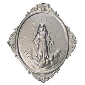 Medaglione per confraternite Madonna Assunta metallo s1