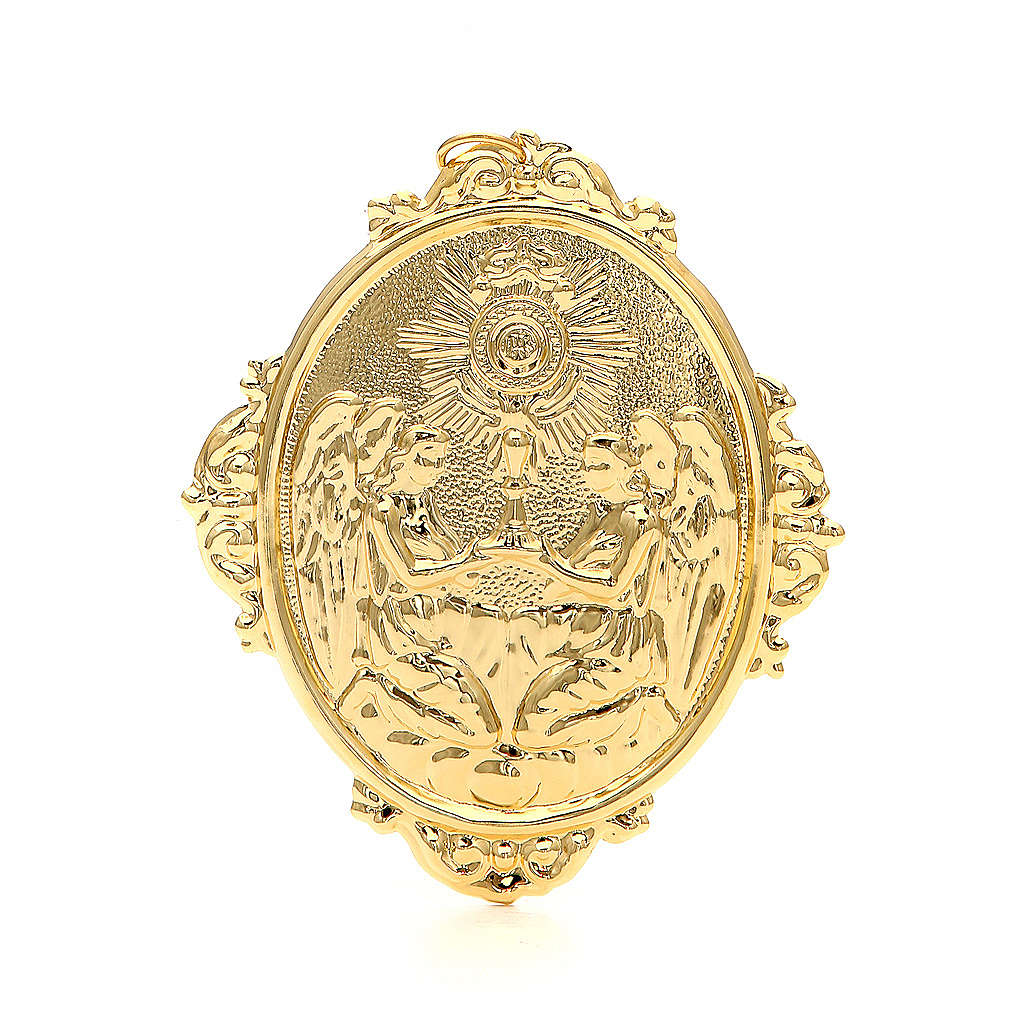Confraternity Medal in metal, Blessed Sacrament 3