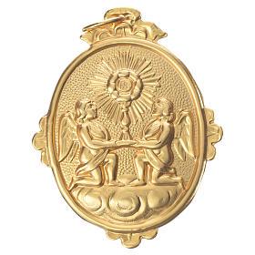 Medalla cofradía Santísimo Sacramento 9x7 cm. metal s1