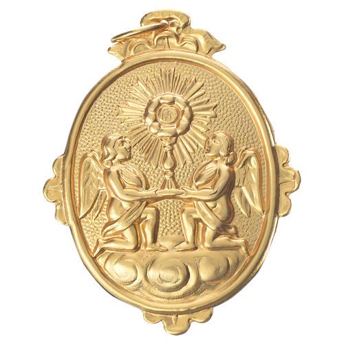 Medalla cofradía Santísimo Sacramento 9x7 cm. metal 1