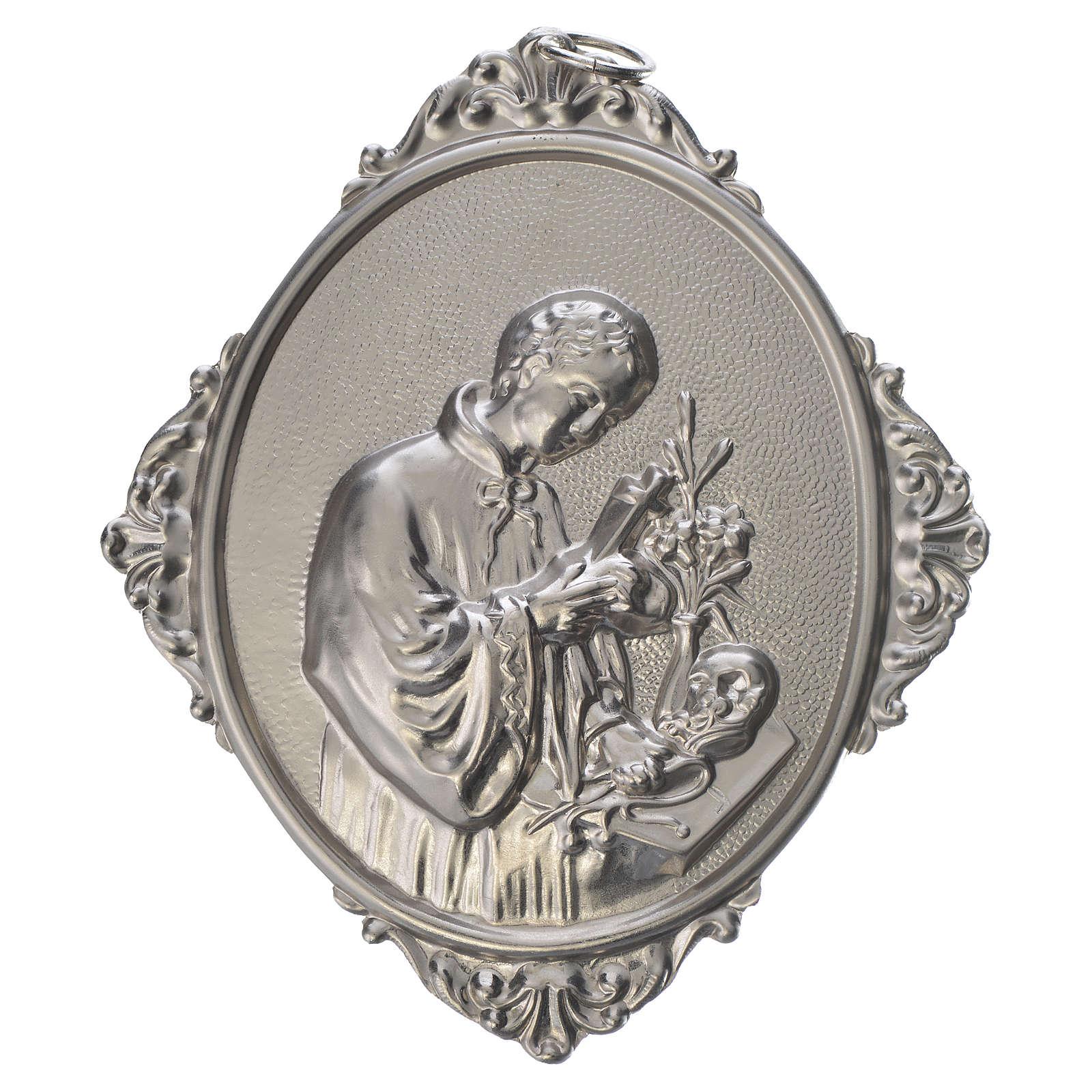 Confraternity Medal in metal, Saint Luigi 3