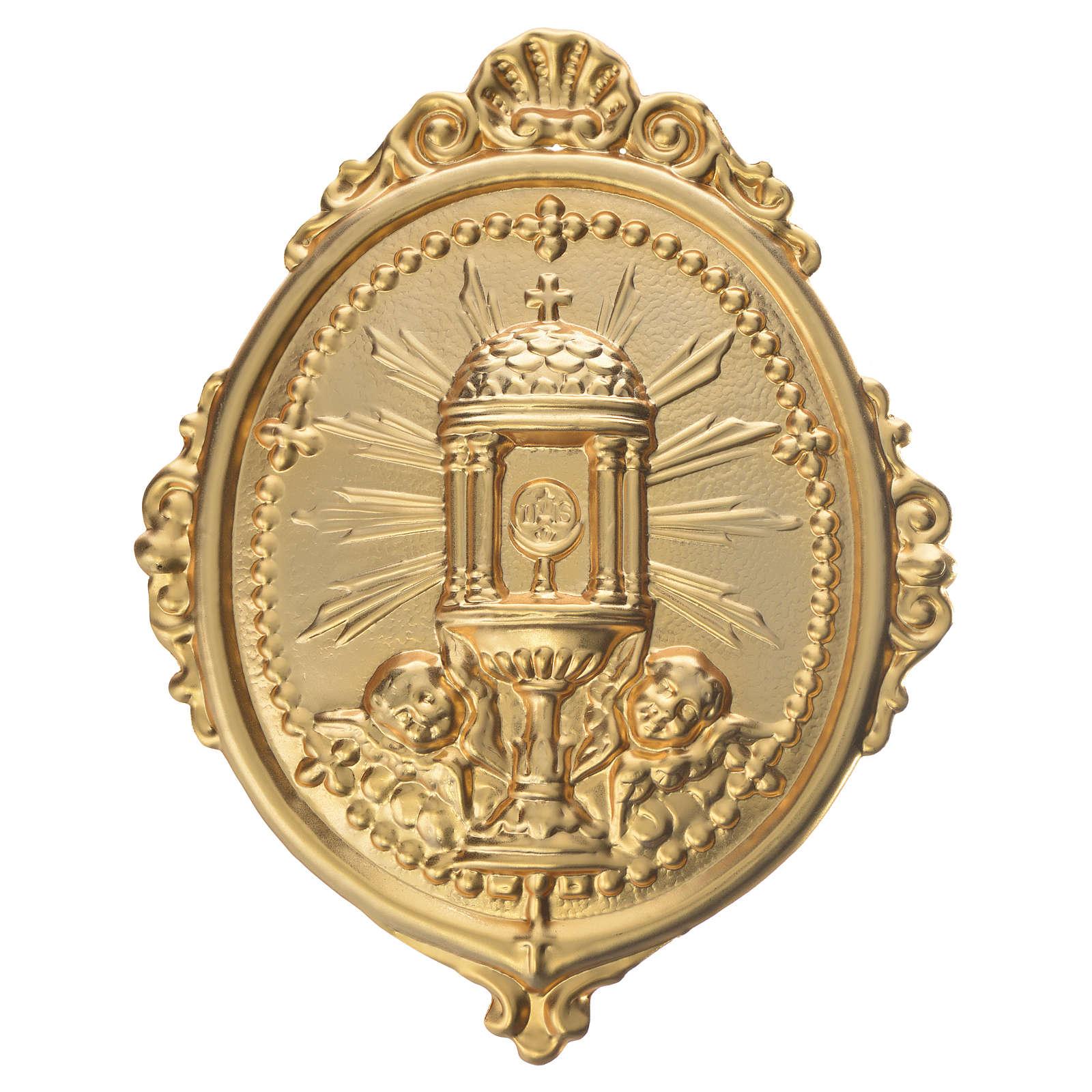 Medaglione per confraternite Ostensorio Ambrosiano metallo 3