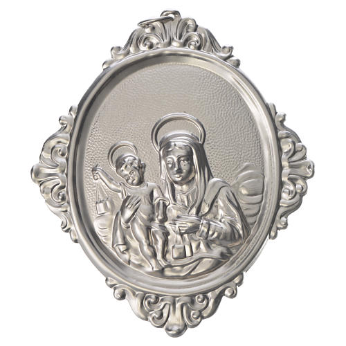 Confraternity Medal in brass, Our Lady of Mount Carmel 1