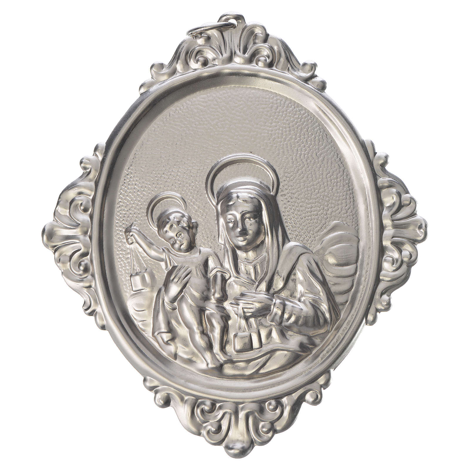 Medaglione per confraternita Madonna Carmine ottone 3