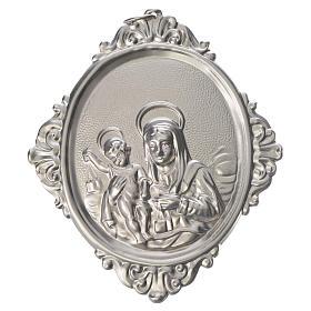 Medaglione per confraternita Madonna Carmine ottone s1