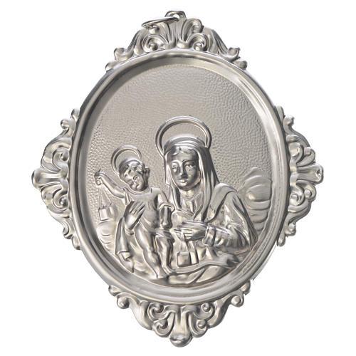 Medaglione per confraternita Madonna Carmine ottone 1