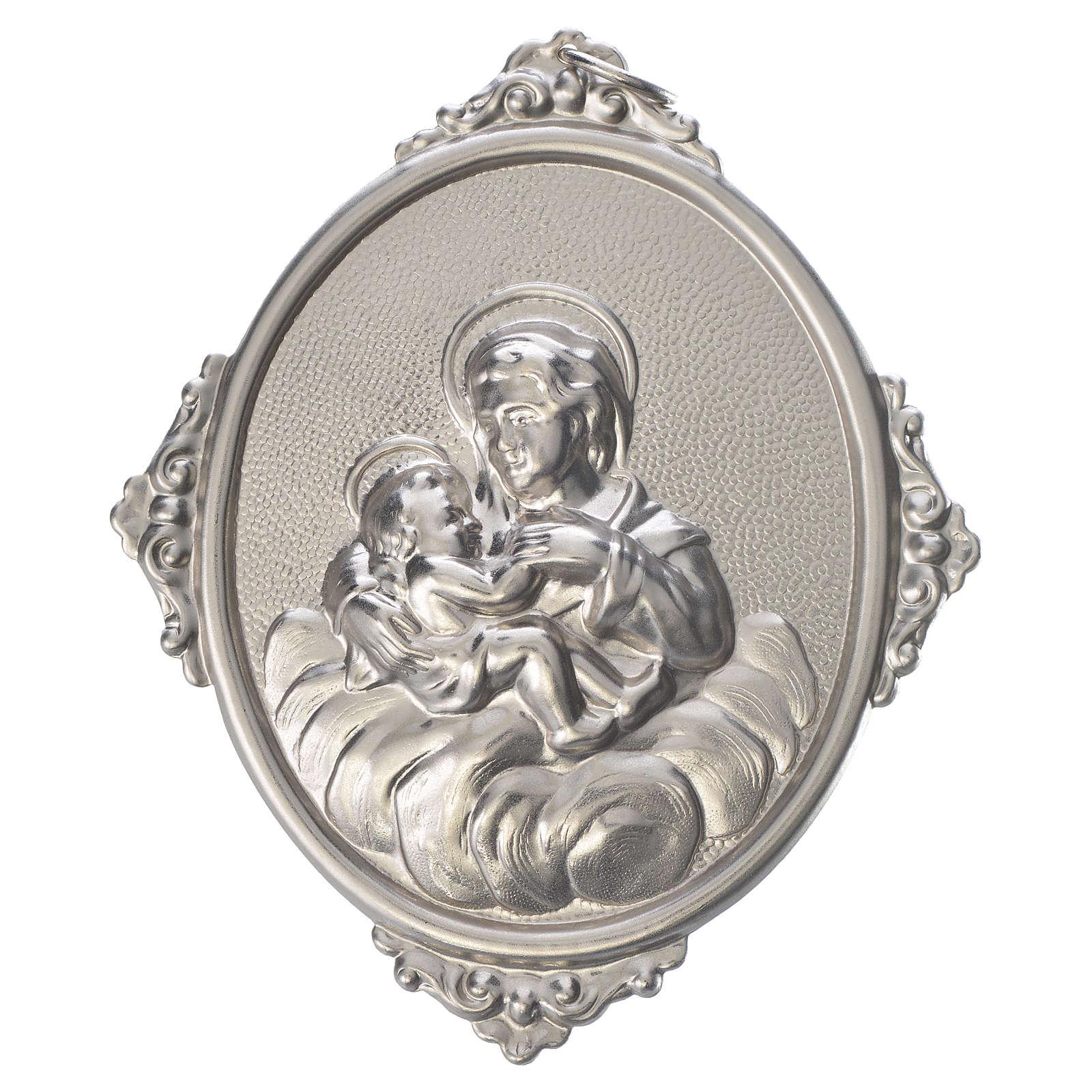 Medaglione confraternita Madonna delle Grazie ottone 3