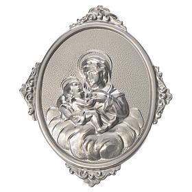 Medaglione confraternita Madonna delle Grazie ottone s1