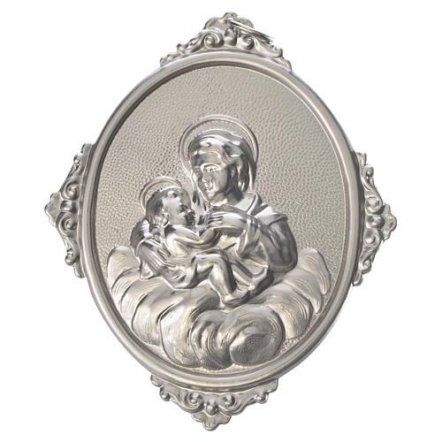 Medaglione confraternita Madonna delle Grazie ottone 1