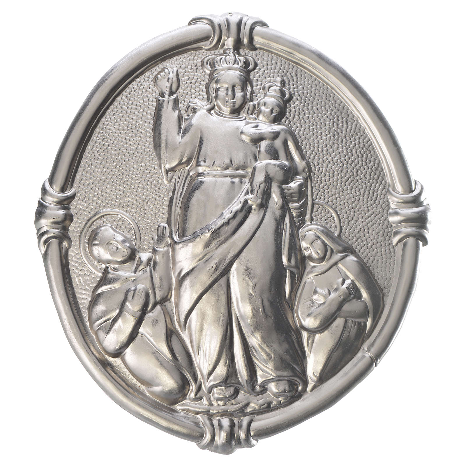 Confraternity Medal in brass, Our Lady of Pompei 3