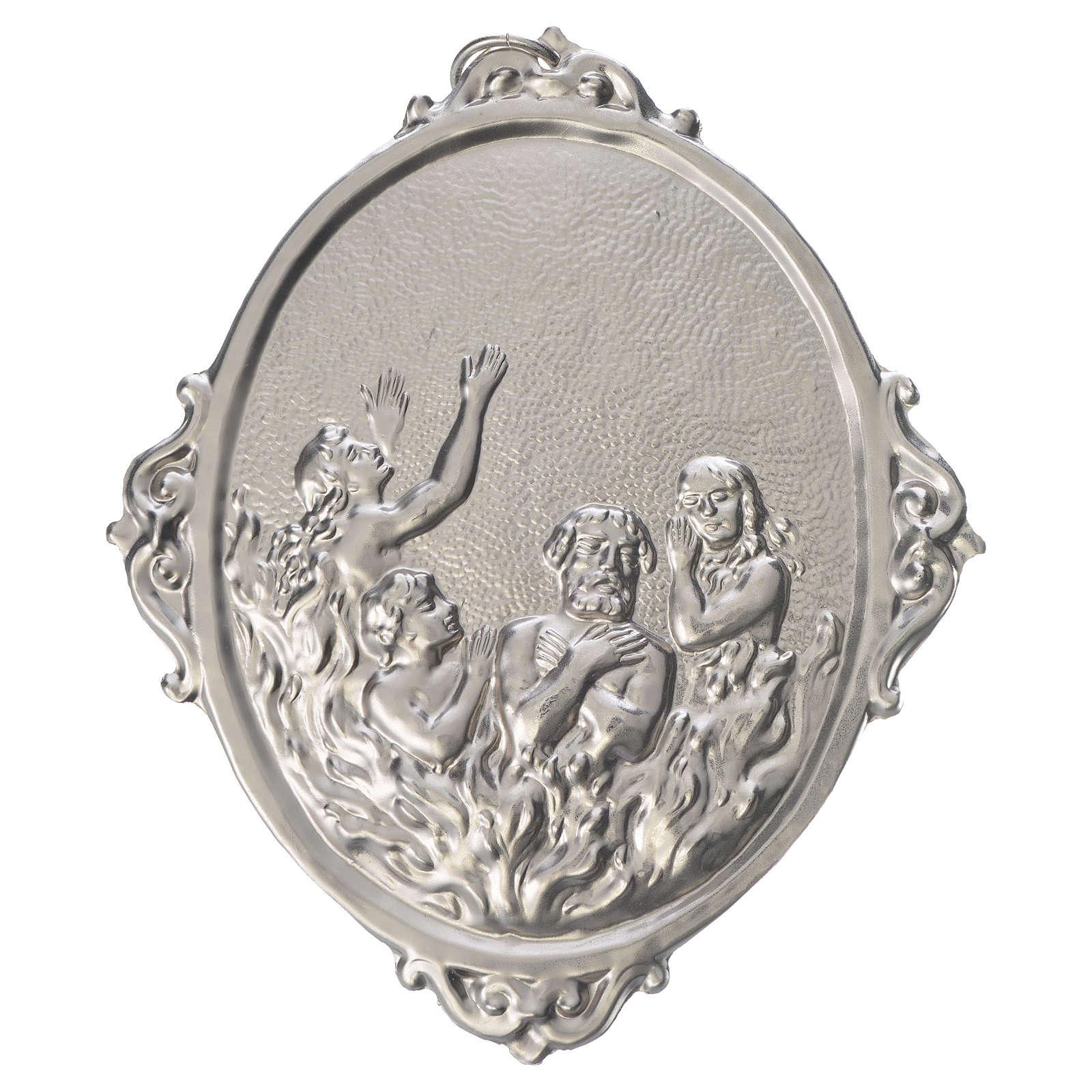 Medalla cofradía de las almas purgantes metal 3