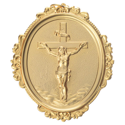 Confraternity Medal in brass, cross with Christ in brass 1