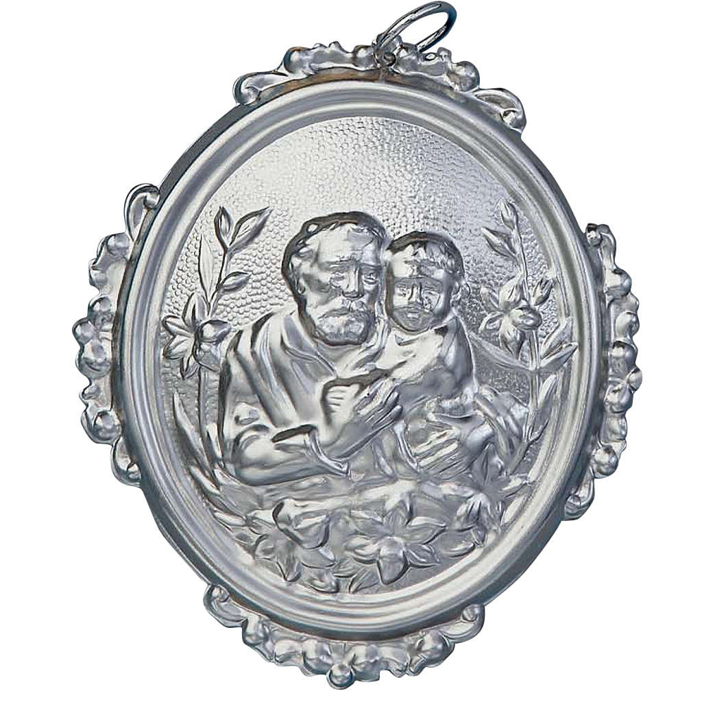 Confraternity Medal in brass, Saint Joseph with baby 3