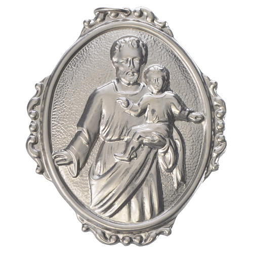 Confraternity Medal in brass, Saint Joseph with baby Jesus 1