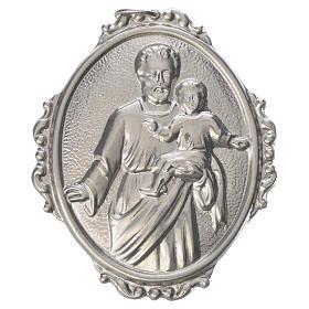 Medalla cofradía San José con Niño latón s1