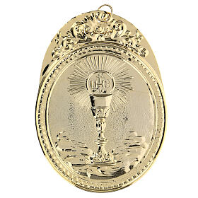 Confraternity Medal in brass, Chalice with IHS s2