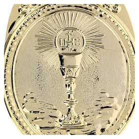 Confraternity Medal in brass, Chalice with IHS s3