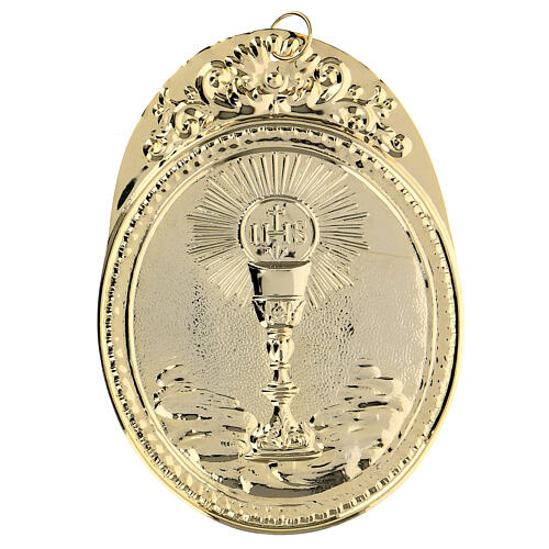 Confraternity Medal in brass, Chalice with IHS 2