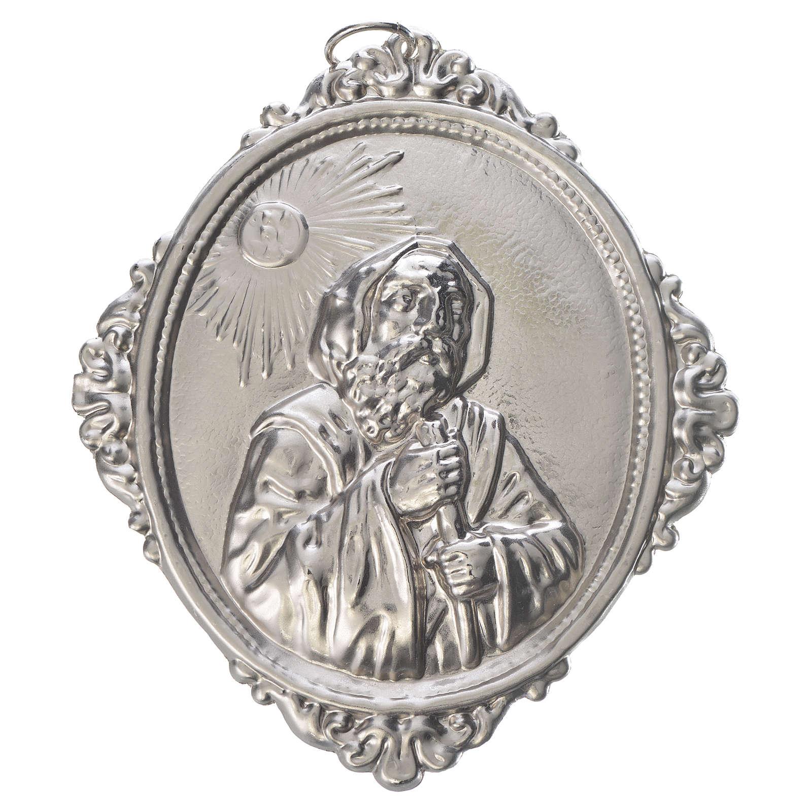 Medaglione confraternita San Francesco da Paola ottone 3