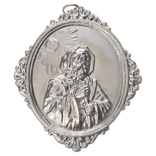 Medaglione confraternita San Francesco da Paola ottone 1