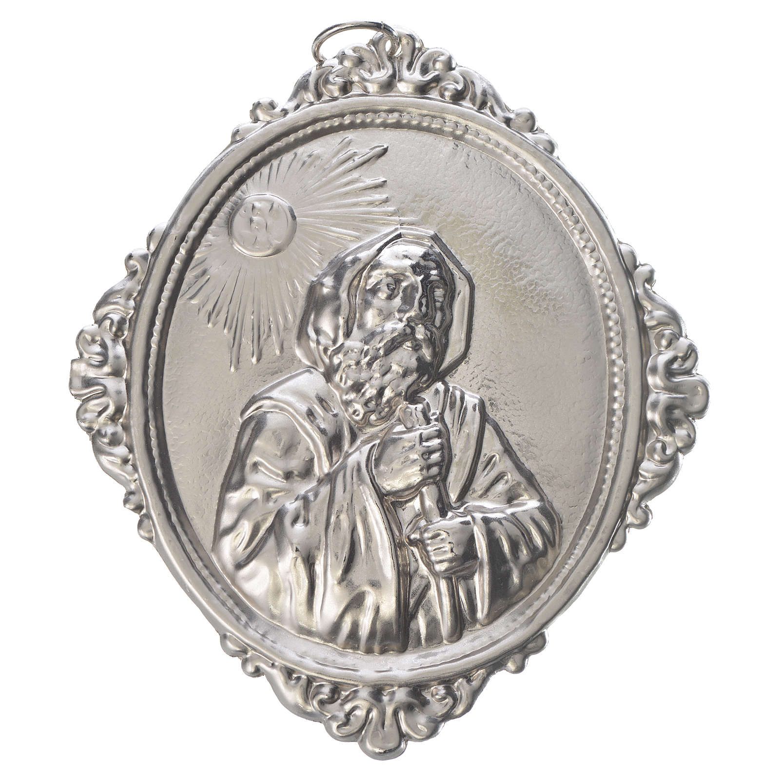 Medalhão irmandade São Francisco de Paula latão 3