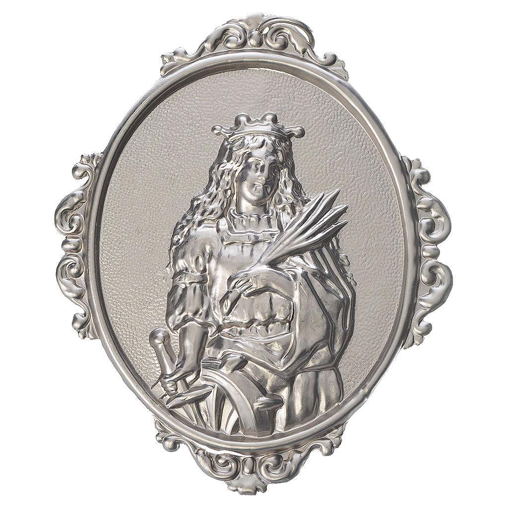 Medaillon für Bruderschaften Heilige Katharina Messing 3