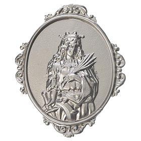 Medaglione per confraternite Santa Caterina ottone s1