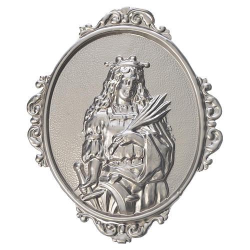Medaglione per confraternite Santa Caterina ottone 1